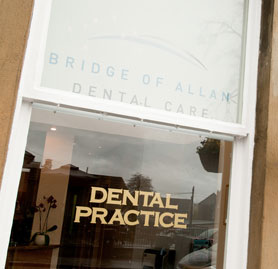 Bridge of Allan Dental window
